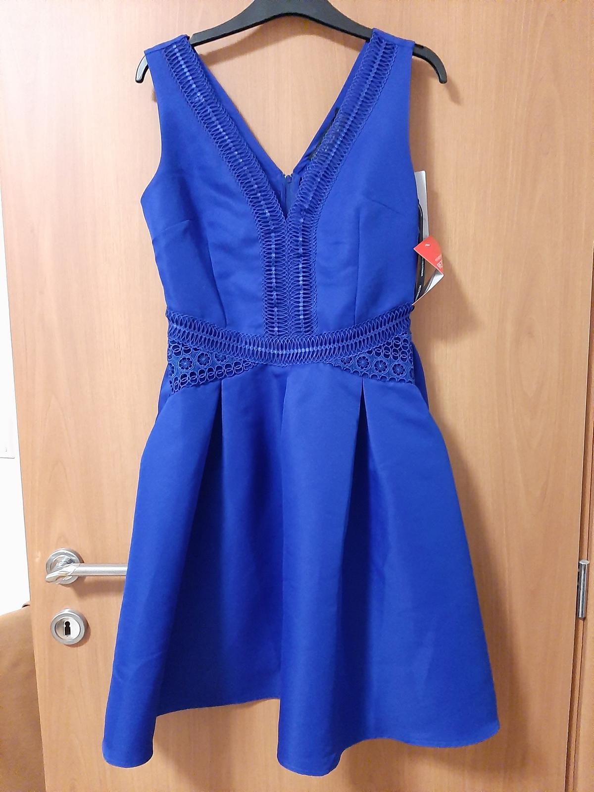 Modré krátke šaty - Obrázok č. 2