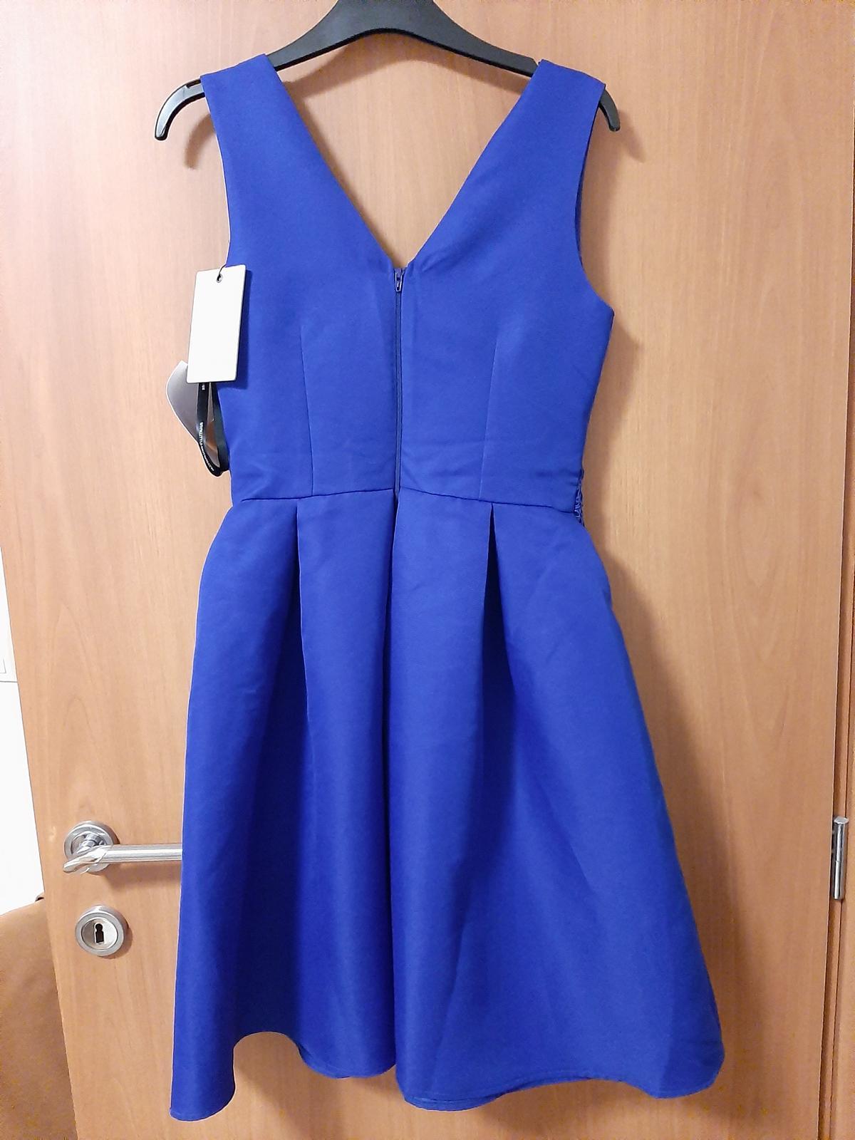 Modré krátke šaty - Obrázok č. 3
