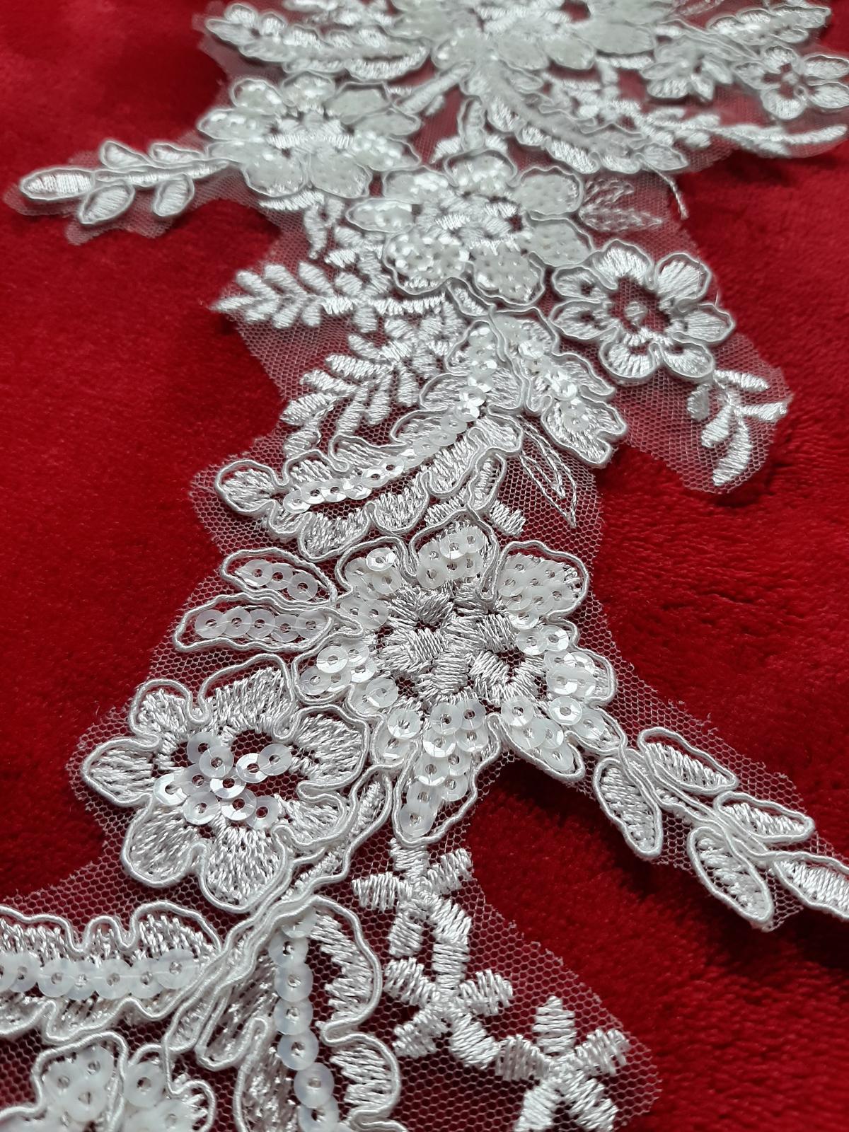 Čipka-krásny dekor na šaty, závoj - Obrázok č. 1