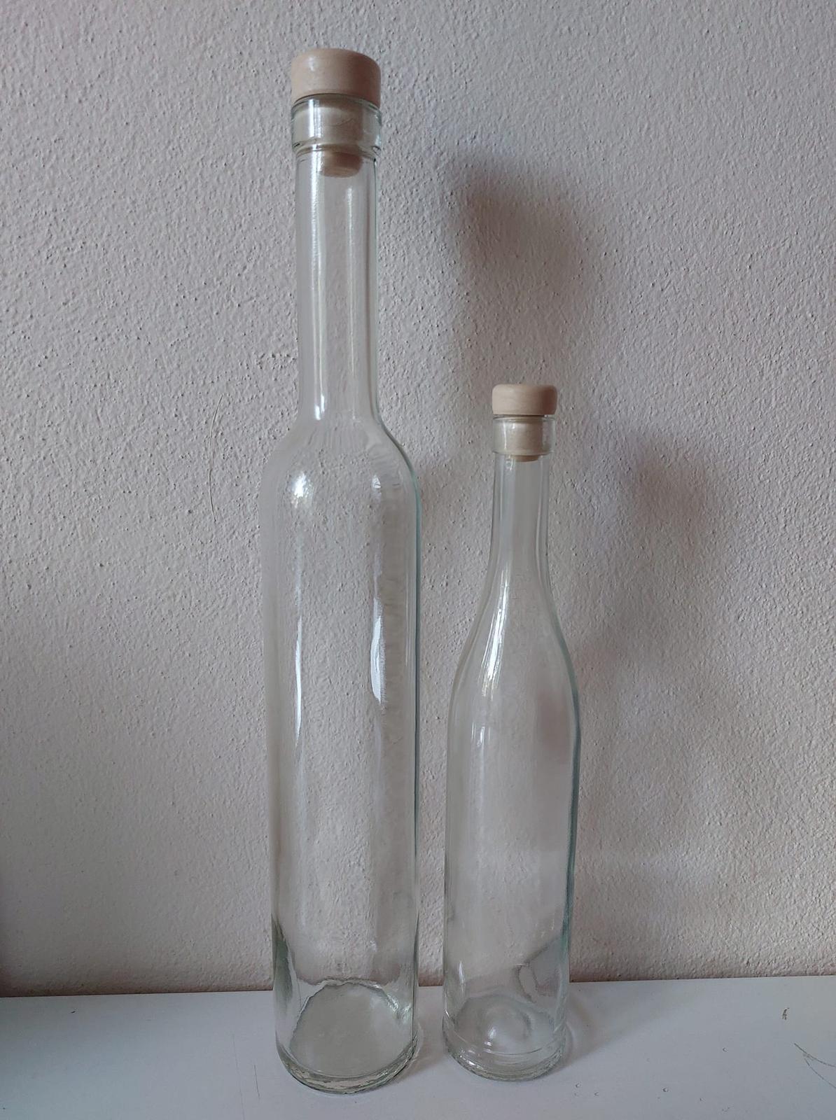 0,5L a 0,25L sklenená fľaša - Obrázok č. 1