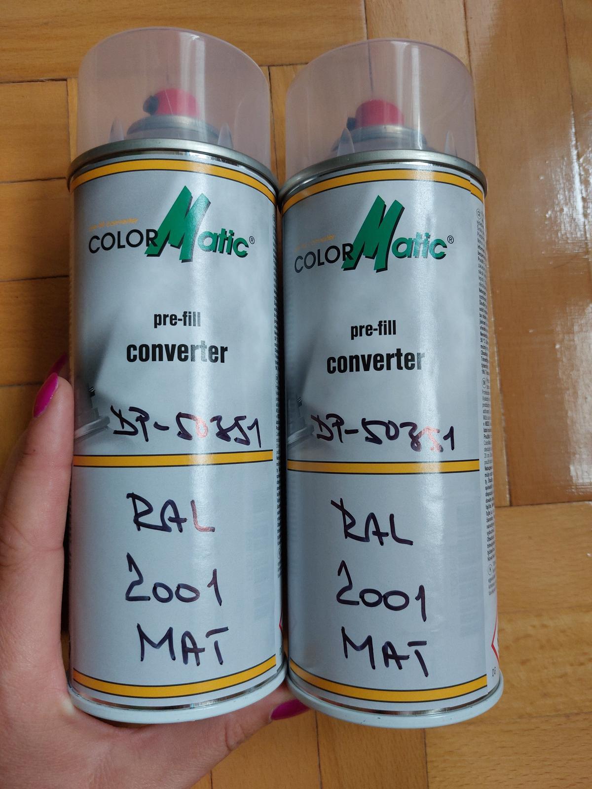 Spray, farba RAL 2001 MAT oranžová - Obrázok č. 1