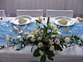 ikebany na svatební tabuli
