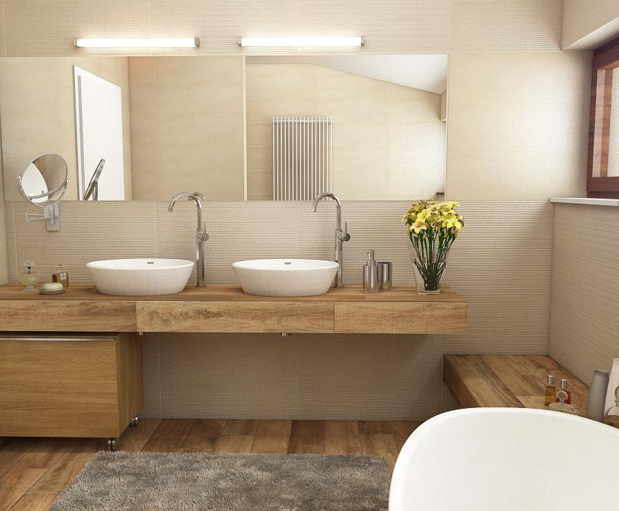 Koupelny - rekonstrukce koupelny v prijemnych odstinech, dum