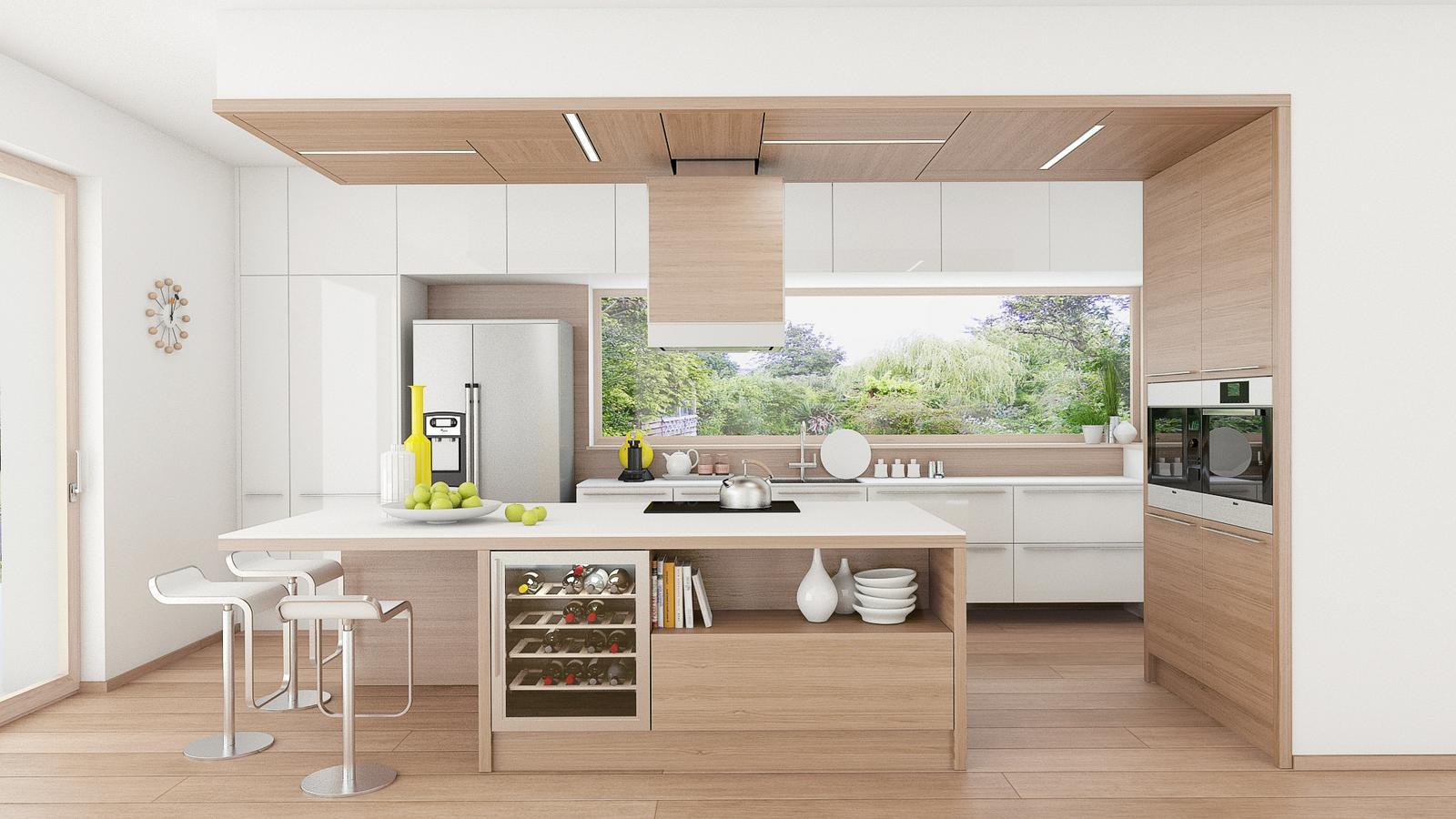 Na výběru materiálu záleží - návrh kuchyně -  dřevodekor 3