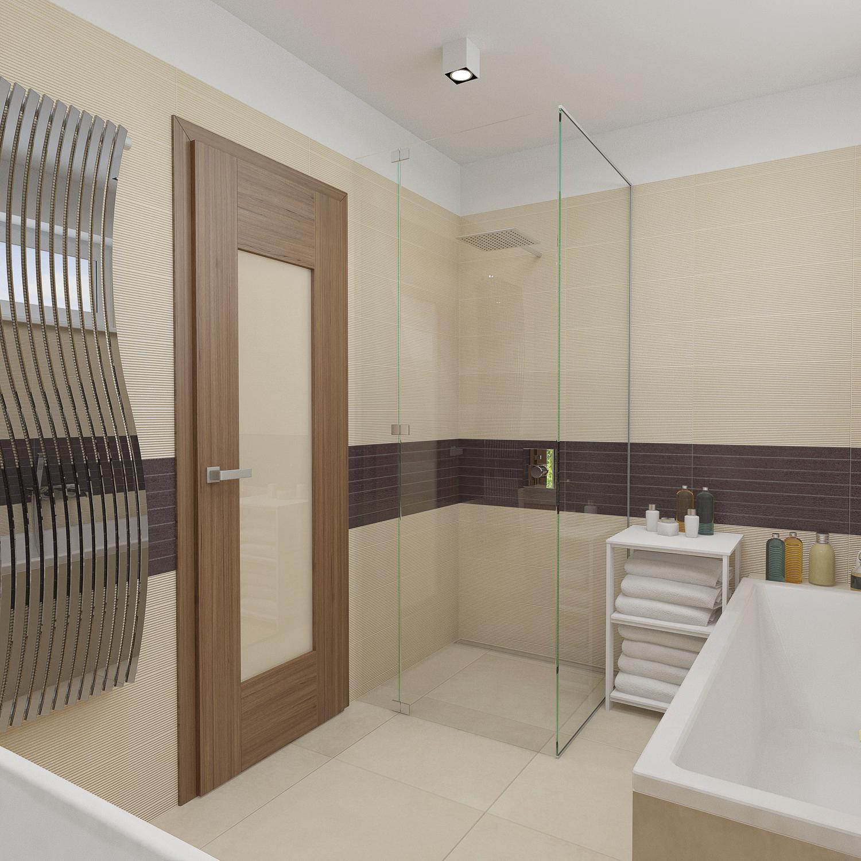 AKTUALNI PROJEKT 08 2014 - koupelna - pohled na sprchový kout