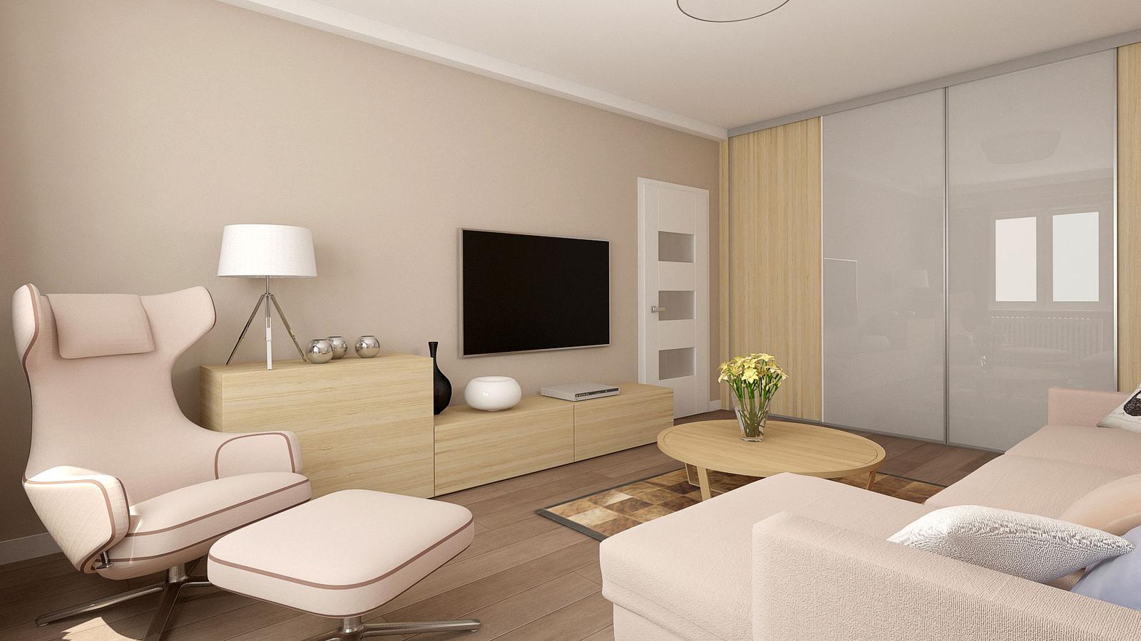 BYT 2+1 _ rekonstrukce - obývací pokoj
