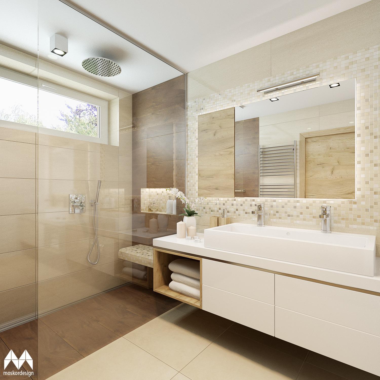 Moderní světlá koupelna s nádechem luxusu - dvojumyvadlo a sklenéná zástěna sprchového koutu