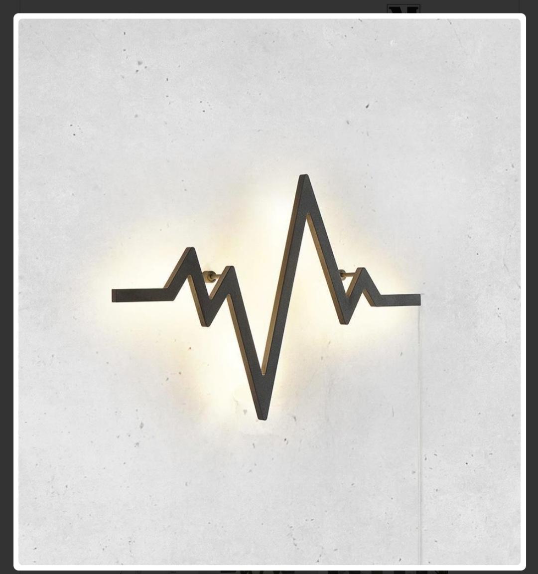 LIFE černé nástěnné svítidlo 40cm EKG - Obrázek č. 1