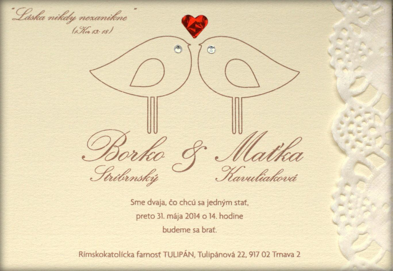 Ako sme si vytvorili našu svadbičku :) - oznámenie sme si sami navrhli, vytvorili i dozdobili...bola to celkom fuška ;)