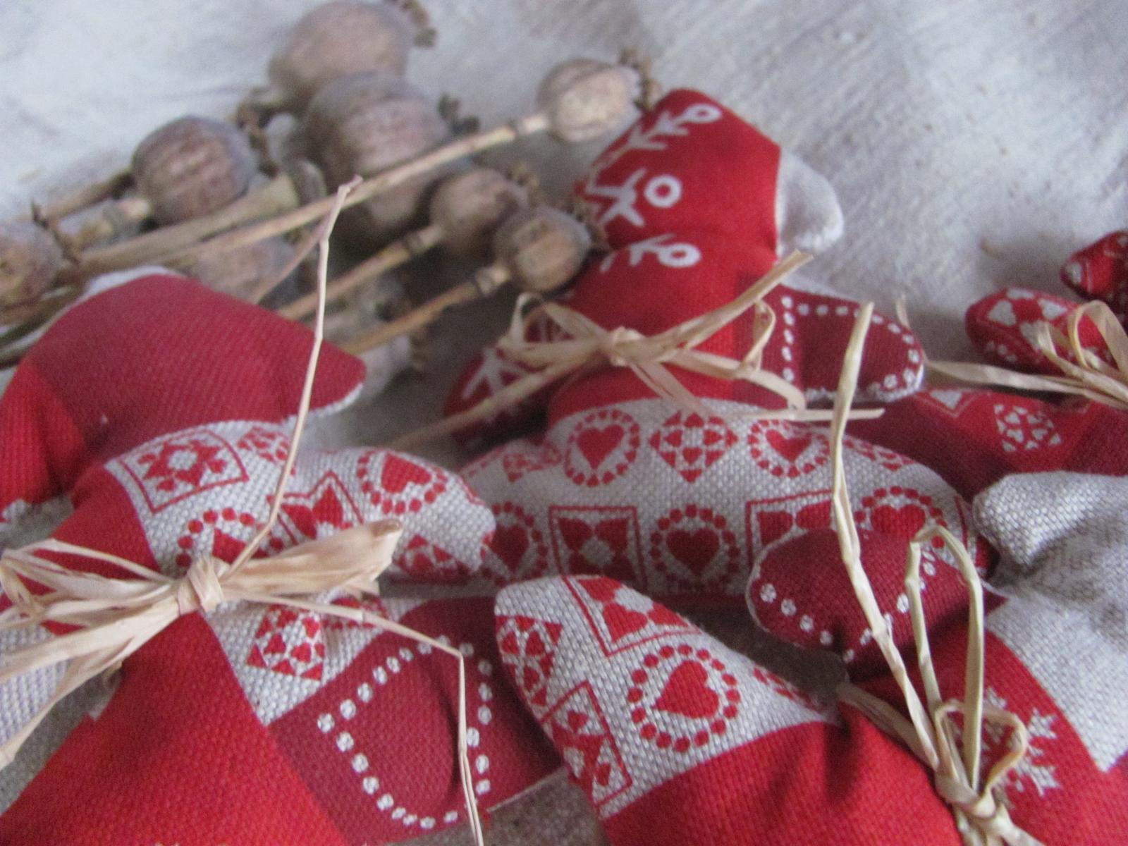 Moje vidiecke výrobky - už sa chystám na Vianoce - stromčekové zápichy