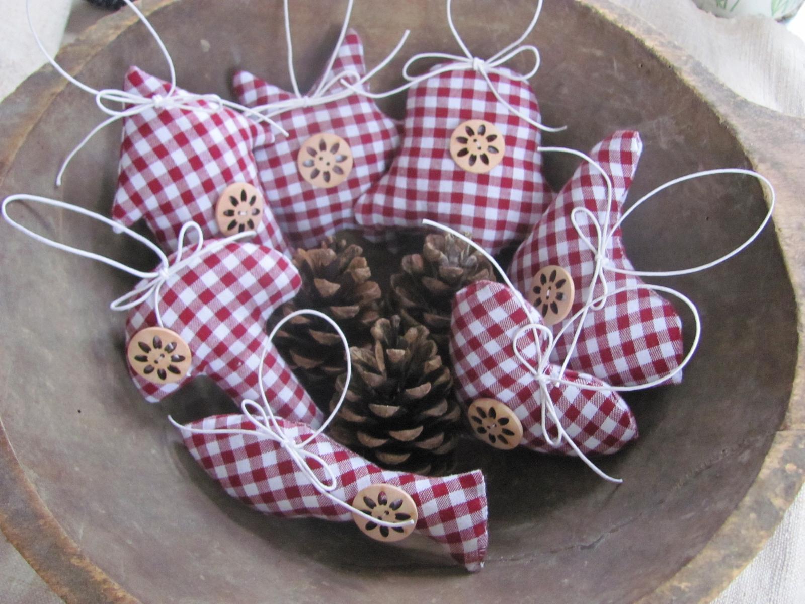 Moje vidiecke výrobky - už sa veru Vianoce blížia, tak chystám ozdôbky