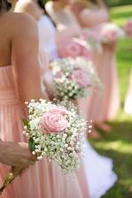 Svadbolina - Kvetinky - gibsomilka a ružová ruža