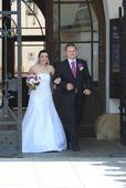 originální zdobené svatební šaty , 38