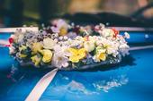 svadobný veniec na auto,