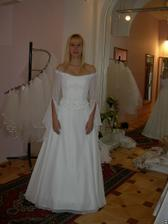 salon Evanie (šaty s rukávy) zepředu