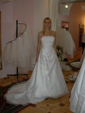 salon Evanie (šaty Krypton) zepředu