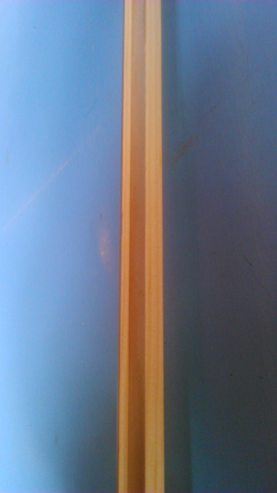 Premeny - kúpené hotové latky so zárezom na sklo..