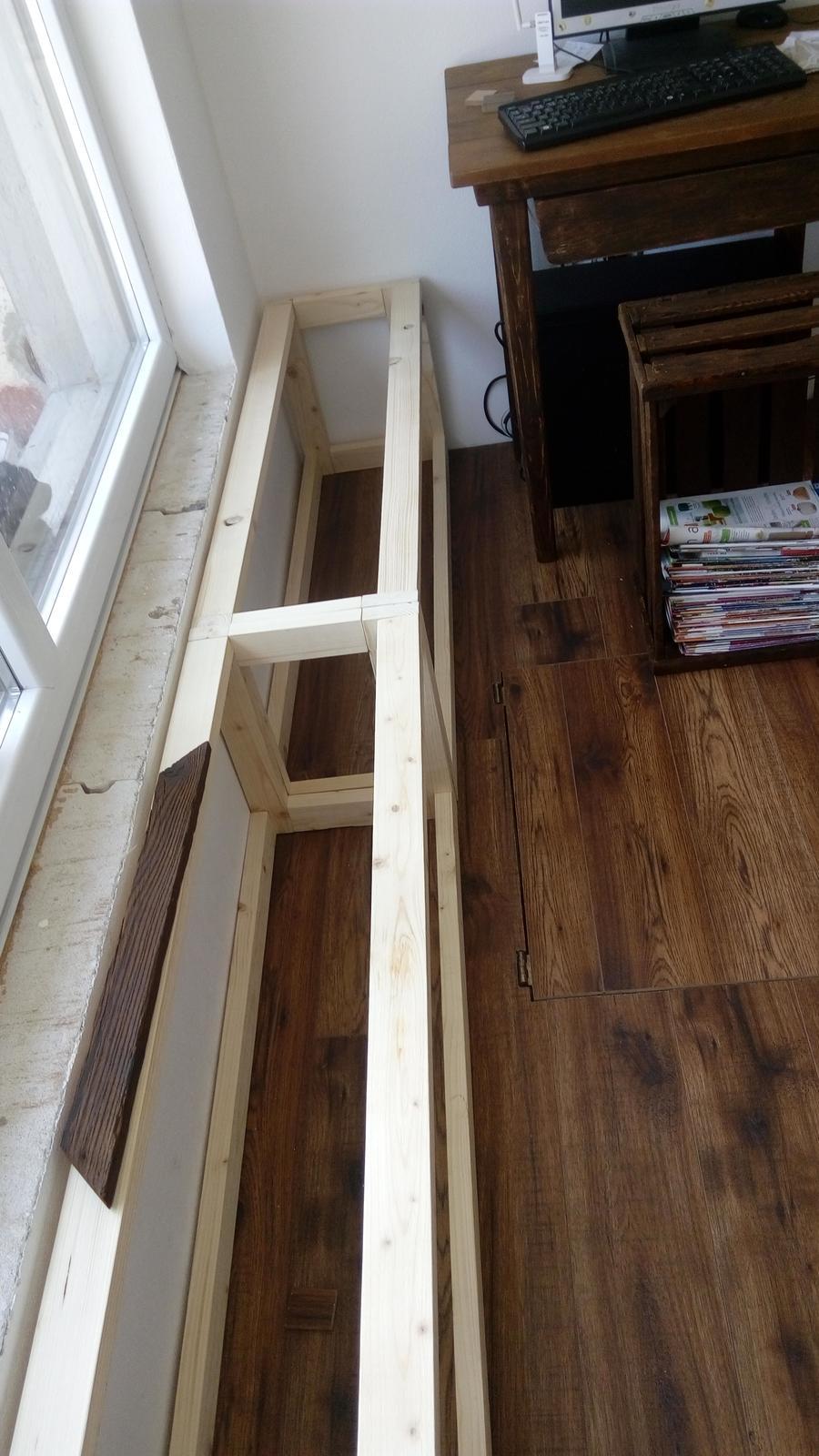 Ako sme vyrábali sedíliu po našom. Z materiálu....čo dom dal :-) - Obrázok č. 31