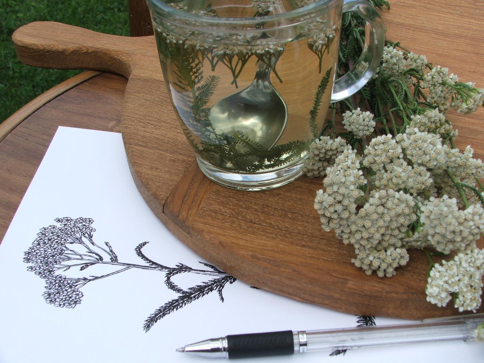 Domov - kreslenie pri čajíku....