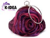 Spoločenská kabelka ruža,