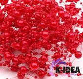 Perličky 7mm - červená,