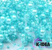 Perličky 7mm - modrá svetlá,