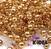 Perličky 7mm - zlatá,