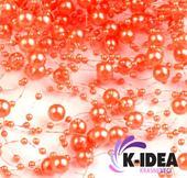 Perličky 7mm - oranžová,