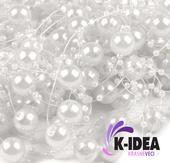 Perličky 12mm - biela,