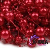 Perličky 12mm - červená,