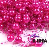 Perličky 12mm - ružová ostrá,
