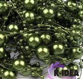 Perličky 12mm - zelená ,