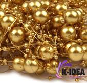 Perličky 12mm - zlatá,