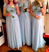 Světle modré šaty pro družičky 3 ks, 40