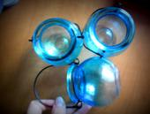 Světle modré vázičky, 3 ks,