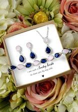 modro-růžové šperky pro nevstu - pokud je sežene