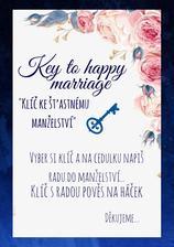 Cedulka ke klíčům