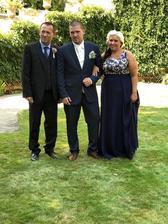 Moje rodinka. Táta, brácha a mamka.