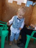 obleček pro chlapečka vel. 92 + botičky 21, 92