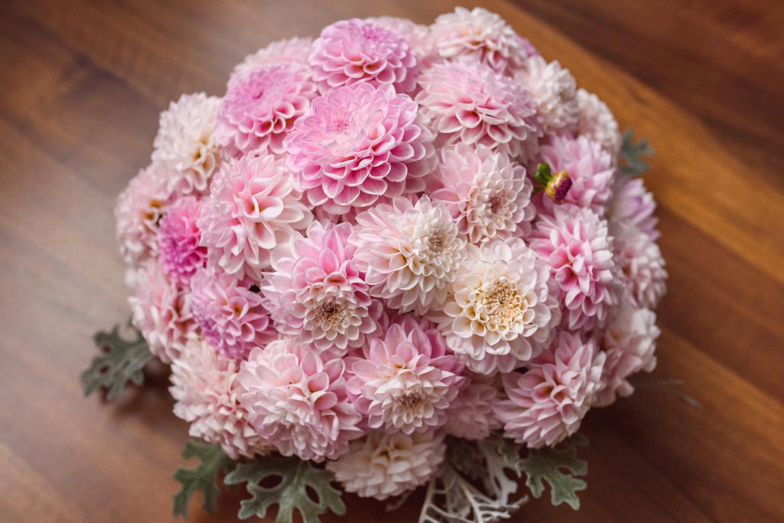 Vo víre kvetov... - Aranžmán ala Korytnačka z vyše 40 dálií :-) Prečo nie...