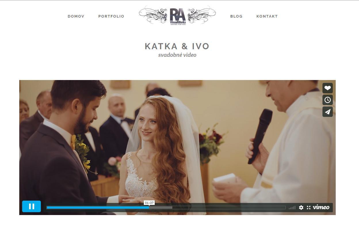 Máme krátky klip z našej svadbičky! Sme nadšení, ďakujeme RA VisualWorks :-) .   Odporúčam pozerať dokonca. Naša obľúbená pieseň Cyrano od Kryštofa http://ravisualworks.sk/portfolio/katka-ivo - Obrázok č. 1