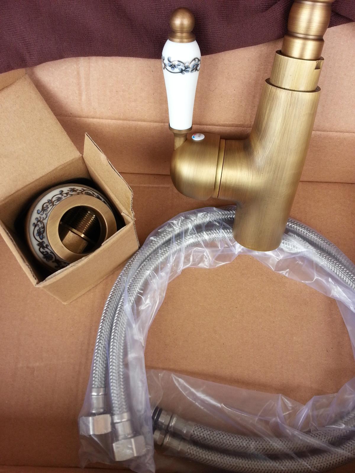 Vodovodná batéria Retroflow gold - Obrázok č. 3