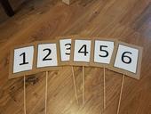 Čísla na stoly,