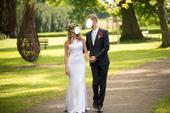 Úzké, bílé šaty pro nevěstu vel. 38, 38