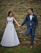 Svatební šaty ELODY, závoj ZDARMA, 40