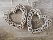 Veľké drevené srdcia ,