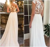 Svadobné šaty farby Ivory, 36