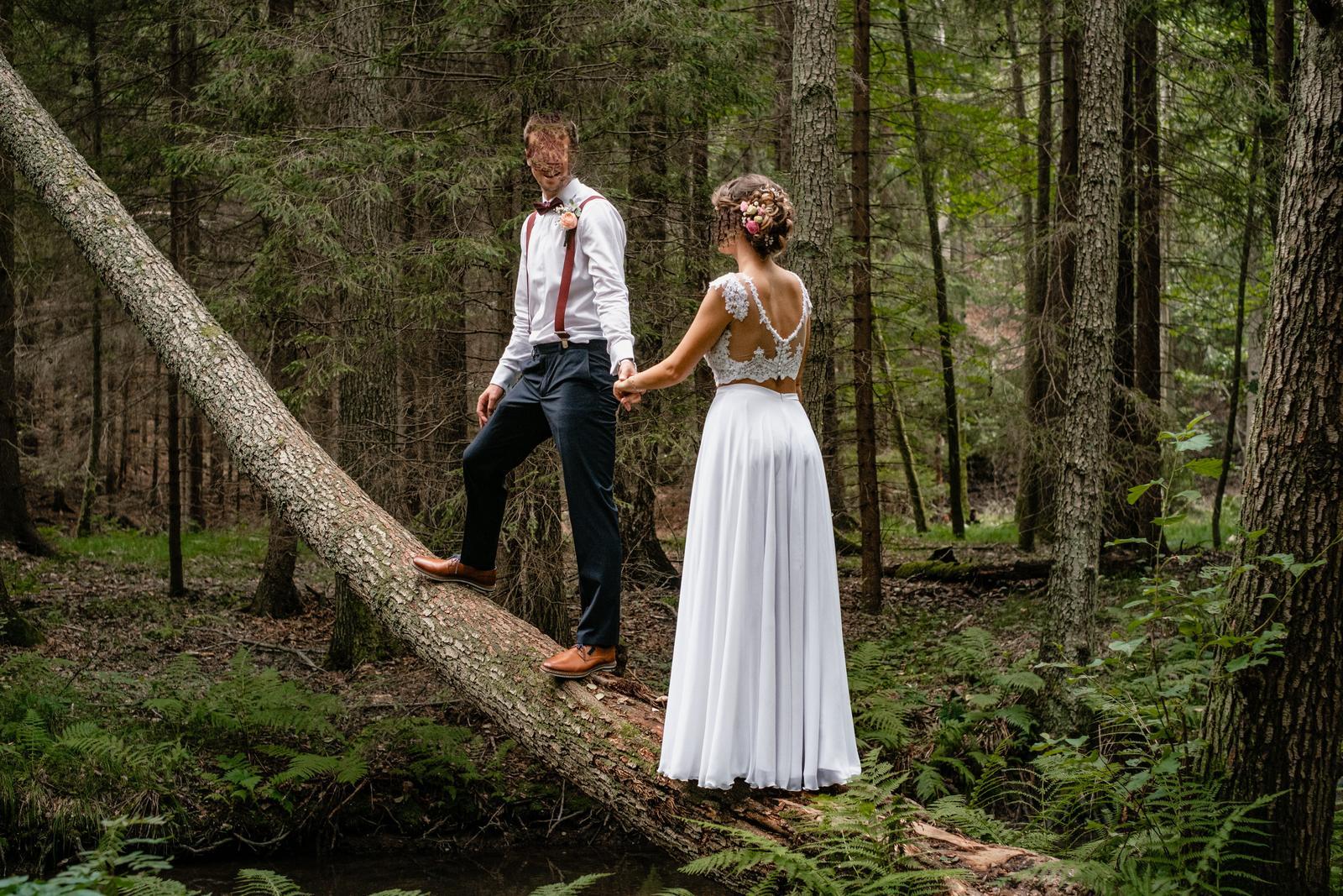 Svatební sukně bílá - Obrázek č. 1