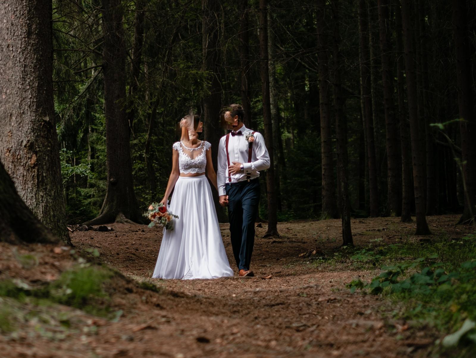 Svatební sukně bílá - Obrázek č. 4