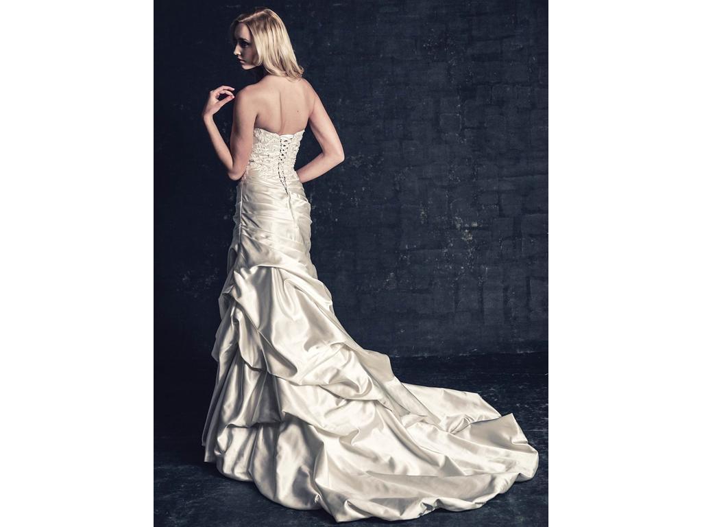 Krásne svadobné šaty z Anglicka; 36-38 Ivory - Obrázok č. 1